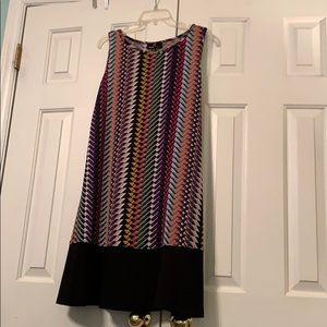 Chevron mixed print dress. 12/L